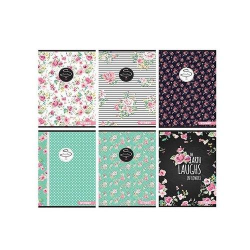 Zeszyt Street Flowers w linie 54 kartki 10 sztuk