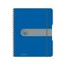 Brulion na spirali easy.orga A5/80k kratka - niebieski ciemny (11293750)