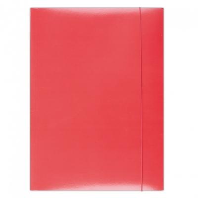 Teczka z gumką lakierowana Office Products 3 skrzydłowa czerwona 360g.21191141-04 .
