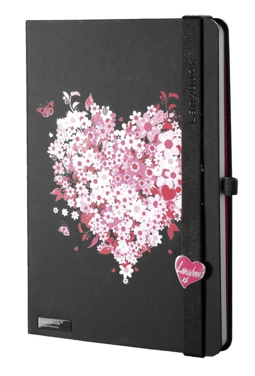 Notes A5 Lanybook Lovestruck w linie czarny
