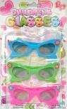 Okulary przeciwłoneczne dla dzieci 3 sztuki Kwiatki