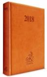 Kalendarz 2018 Prawnika podręczny B6 brązowy