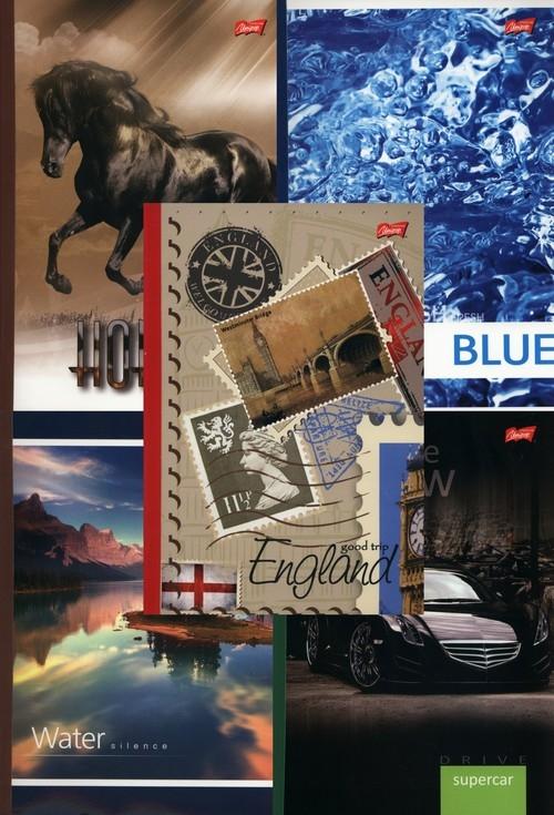 Brulion B5 w linie 160 kartek 5 sztuk mix