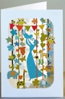 Karnet PM280 wycinany + koperta Narodziny