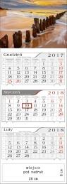 Kalendarz trójdzielny Bałtycki Klif 2018