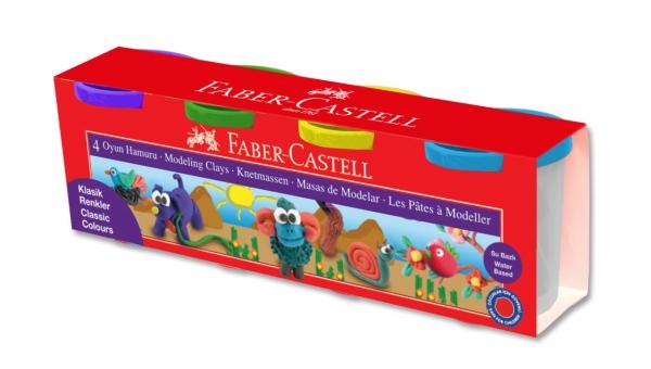 Modelina 4 kolory, Faber Castell (120804 FC)
