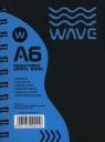 Kołozeszyt A6 Wave w kratkę 120 kartek niebieski