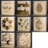 Karnet Wielkanocny złocony Mix wzorów (kwadrat)