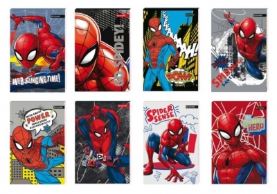 Notes A7/30K z poddrukiem Spider Man (16szt)