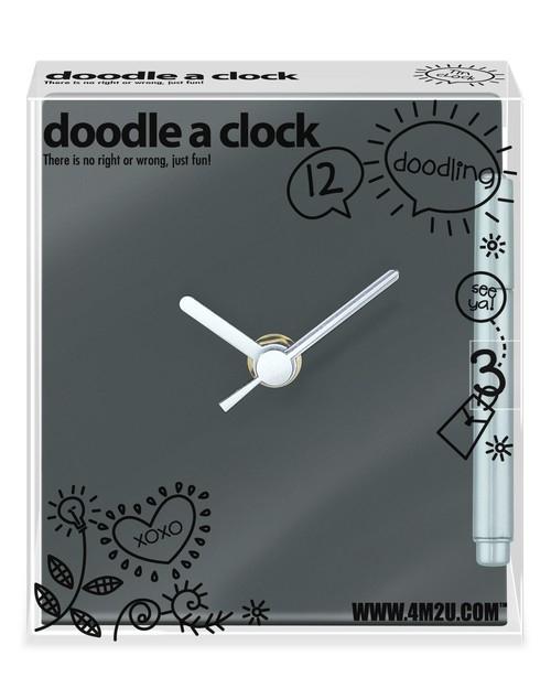 Rysunkowy zegar czarny