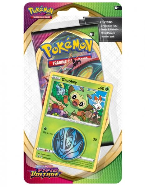 Pokemon TCG: Vivid Voltage Checklane Blister - Grookey (80754)