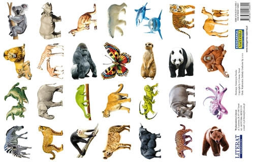 Naklejki Zwierzęta świata