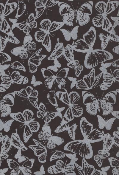 Papiery ozdobne Silver motyle 3 - szare 20x29 cm 10 arkuszy