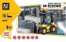 Klocki Blocki Na budowie Wózek widłowy 70 elementów (KB8041)