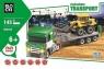 Klocki Blocki: Transport Ciężarówka ze spychaczem  145 elementów (KB8040)