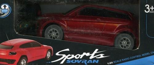Auto zdalnie sterowane ze światłem czerwone 18 cm