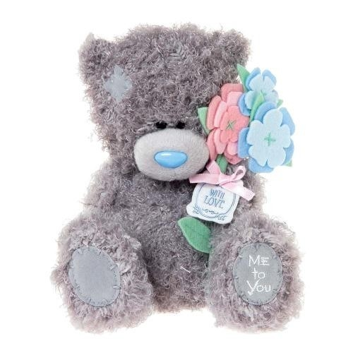 Miś 18 cm z kwiatkami With Love