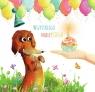 Karnet Urodziny 15x15cm - Pies