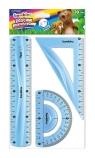 Zestaw geometryczny 3 elementy 30cm Bambino flexi niebieski