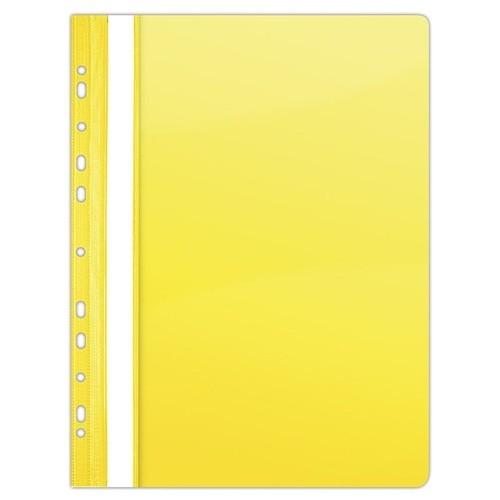 Skoroszyt do segregatora A4 żółty 10 sztuk