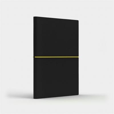 Notatnik A5 Fun M gładki czarny/cytrynowy