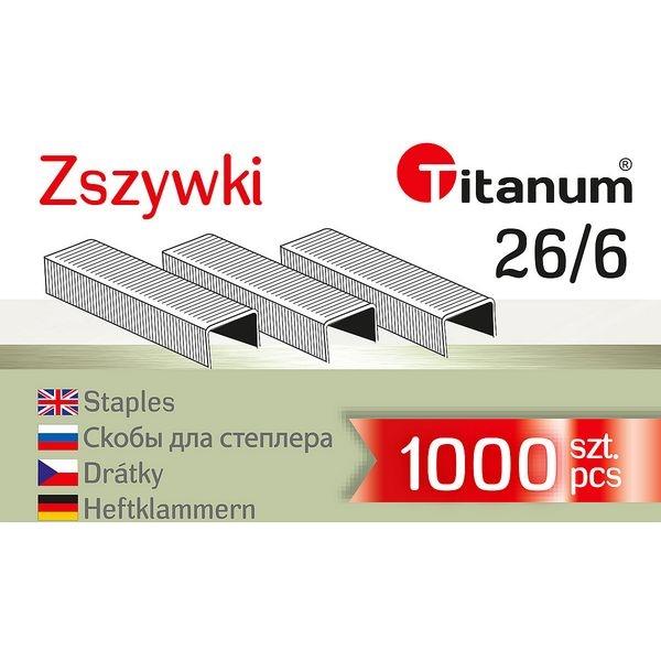 Titanum, zszywki 26/6, 1000 szt. (131295)
