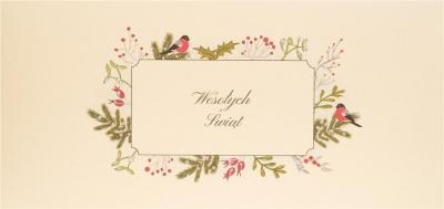 Karnet Święta  - Wesołych Świąt Ptaszki