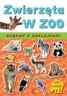 Zwierzęta w zoo Zabawy z naklejkami