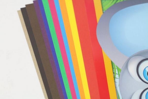 Blok techniczny A4/10k z kolorowymi kartkami (603480)