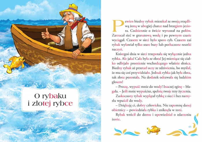 Czytanki metodą sylabową Hans Christian Andersen, Jakub i Wilhelm Grimm, Charles Perrault