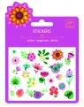 Naklejki z brokatem Kwiatki (DJ09780)