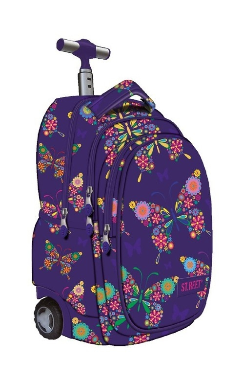 Plecak na kółkach kauczukowych St.reet Butterfly