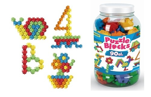 Klocki-puzzle - słoik 90 elementów (41980)
