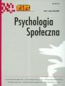 Psychologia społeczna Tom 2 numer 2 (4) / 2007