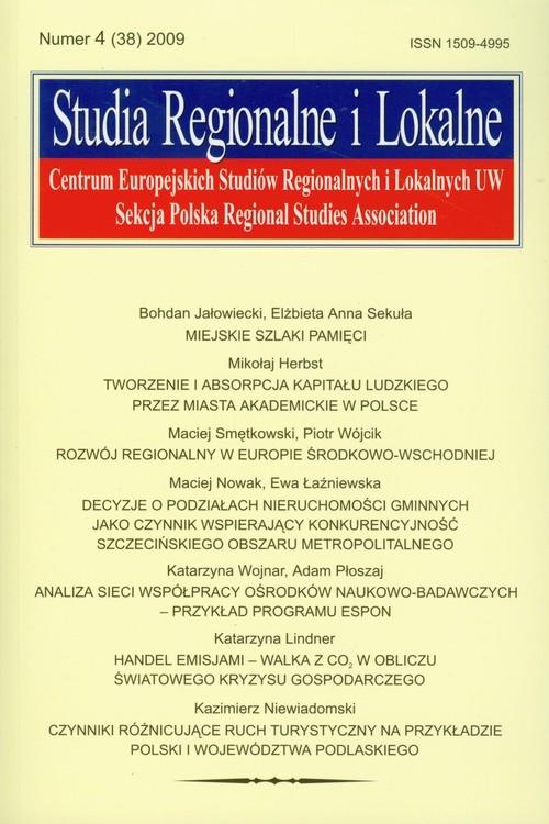 Studia Regionalne i Lokalne 4(38) 2009