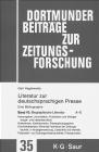 Literatur zur Deutschsprachigen Presse bd.10