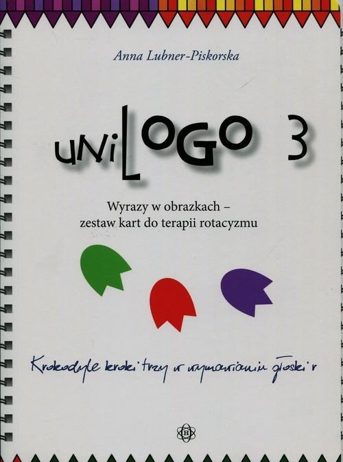 UniLogo 3 Wyrazy w obrazkach zestaw kart do terapii rotacyzmu Lubner-Piskorska Anna