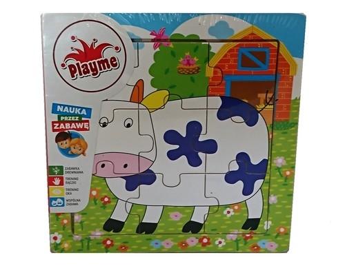 Układanka drewniana krowa 9