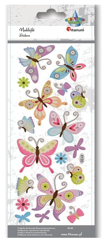 Naklejki wypukłe miękkie motyle 18szt