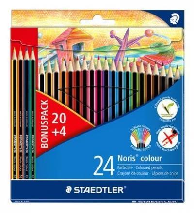 Kredki Noris colour, Wopex 24kol (20+4gratis), Staedtler (S 185 C24P)