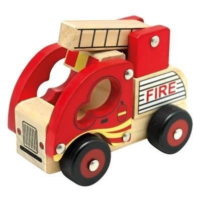 Drewniany samochód straż pożarna (84080)