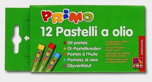 Pastele olejne okrągłe Primo 12 sztuk