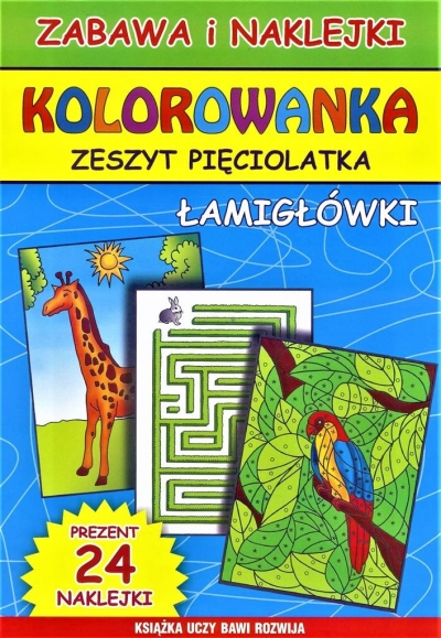 Kolorowanka Zeszyt pięciolatka Łamigłówki Guzowska Beata, Bindek Marta