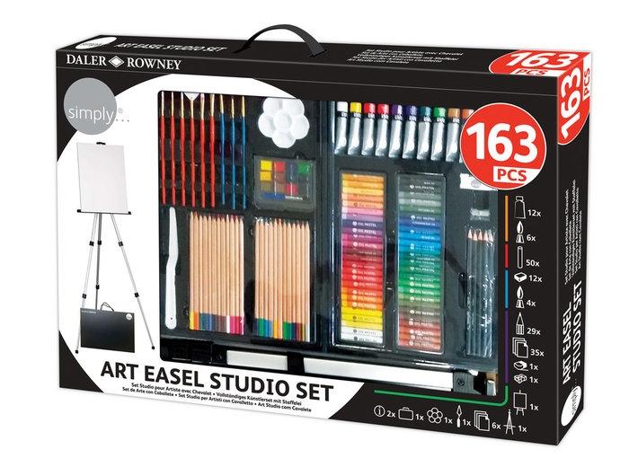 Simply Art - Zestaw artystyczny ze sztalugą - 163 elementów (196500755)