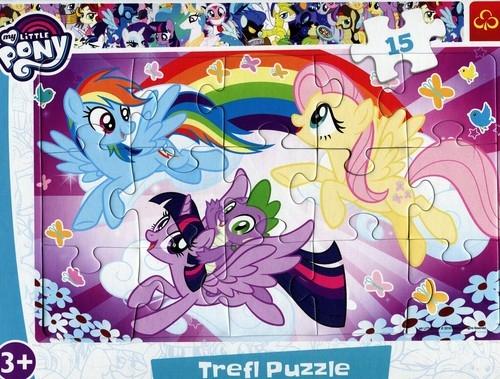 Puzzle Ramkowe 15: My Little Pony Zabawa kucyków (31280)
