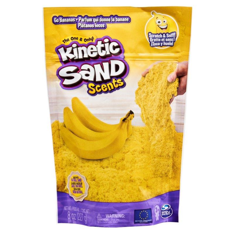 Kinetic Sand: Piasek kinetyczny. Smakowite Zapachy 227g - Bananowy zawrót głowy (6053900/20124652)