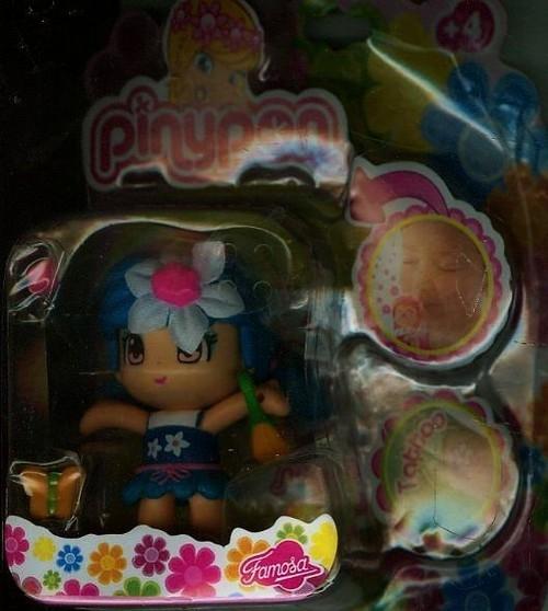 Pinypon pachnąca laleczka niebieska z kwiatkiem + tatuaż