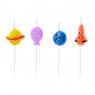 Świeczka urodzinowa Partydeco Kosmos, 4 szt. (424362)