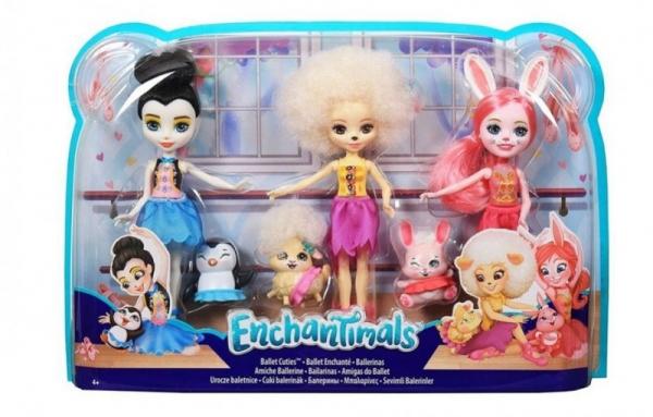 Lalka Enchantimals Baletnice 3-pak (FRH55)