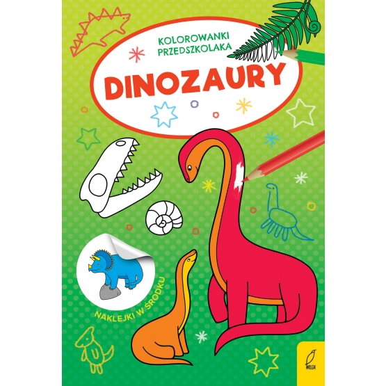 Kolorowanki przedszkolaka. Dinozaury Opracowanie zbiorowe